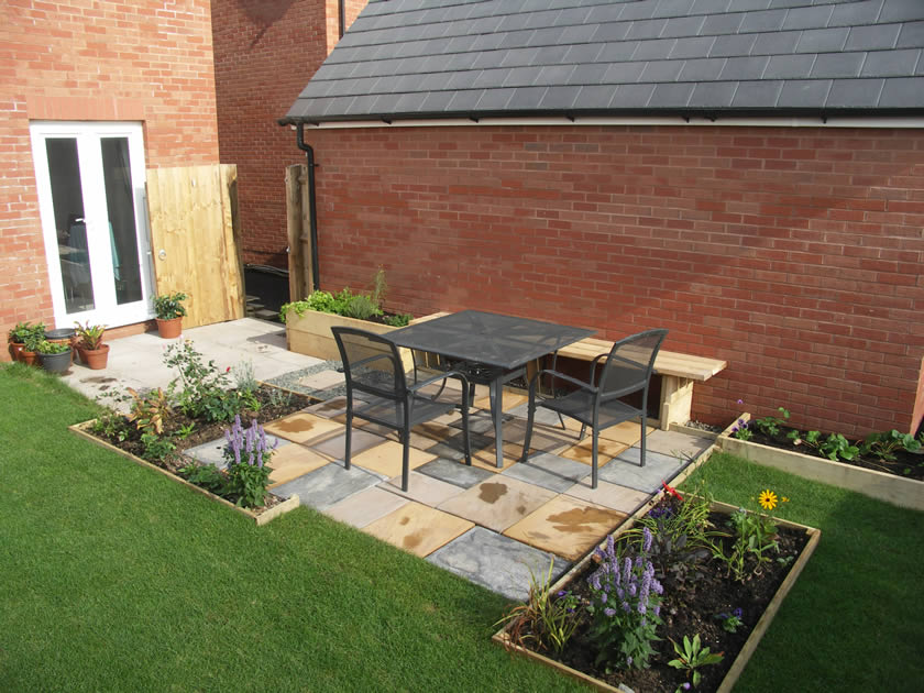 Gardens sorted bespoke decking and platform structure for Garden design new build house