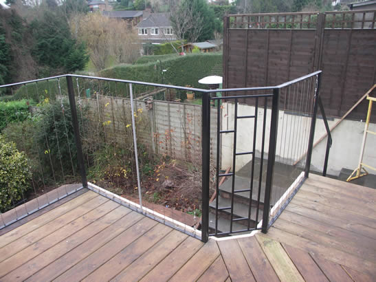 Balcony railing stainless steel wire