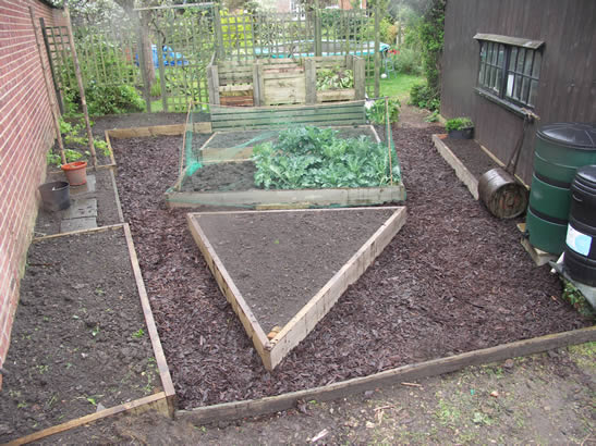 Ornamental vegetable garden compost bins