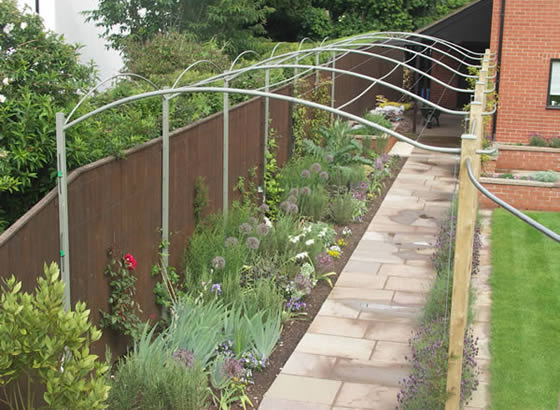 Cold forged steel walkway, palisade, brick walling