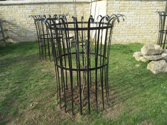 Forged steel tree guards livestock proofing