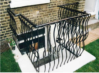 Hot forged security balustrade