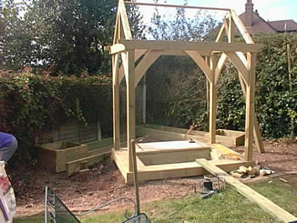 Bespoke sandpit and gazebo Ledbury