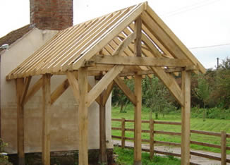 Oak timber frame shed, Forest of Dean